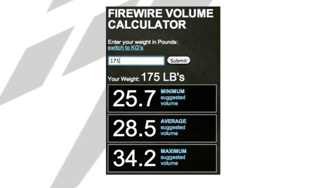 Firewire Volume Calculator