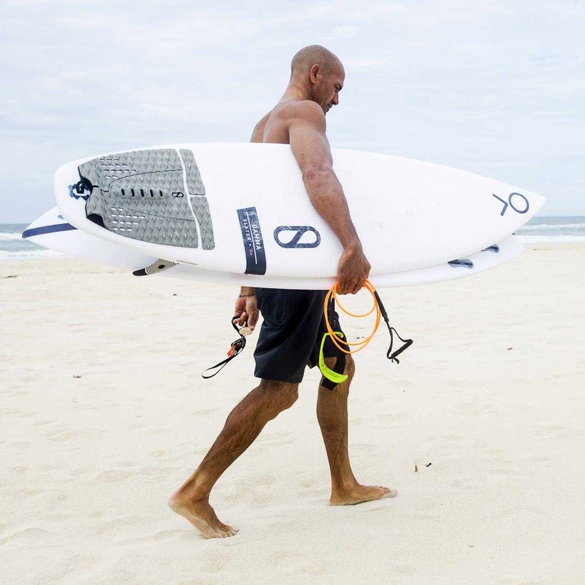 Slater Designs Surfboard Helium Gamma on the beach