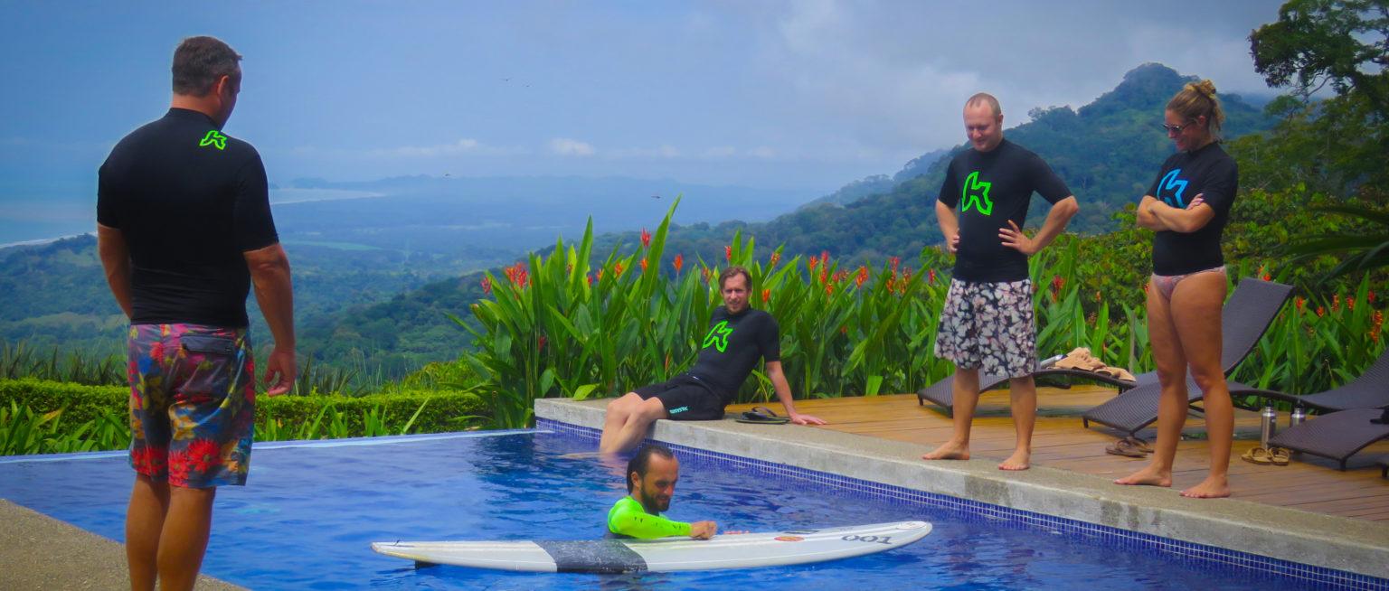 beginner surfing in costa rica